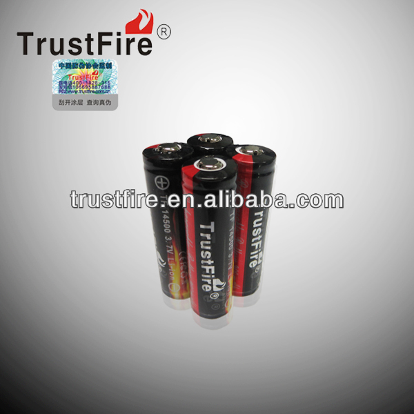 TrustFire 900mah 3.7v litium ion batteries14500 cheap car batteries
