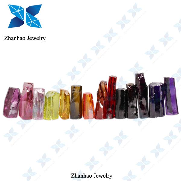 Aaa Zircon Hot Sale Violet Cubic Zirconia Rough Stone