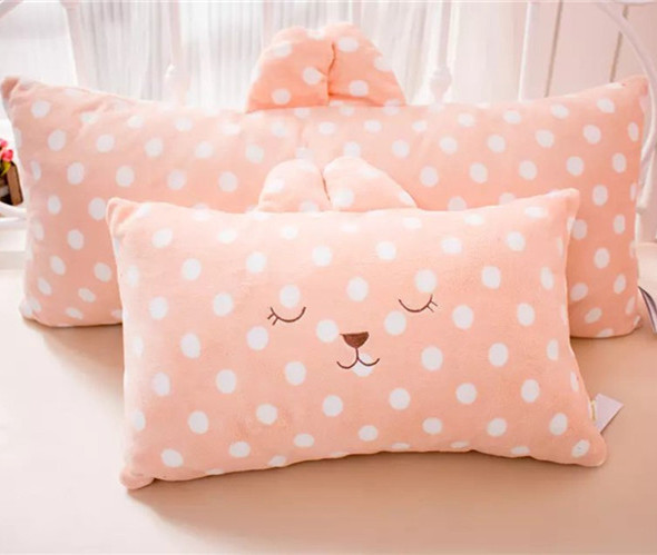 long cheap wave point rabbit stripe bear pillow baby stuffed <strong>animals</strong> for sleep