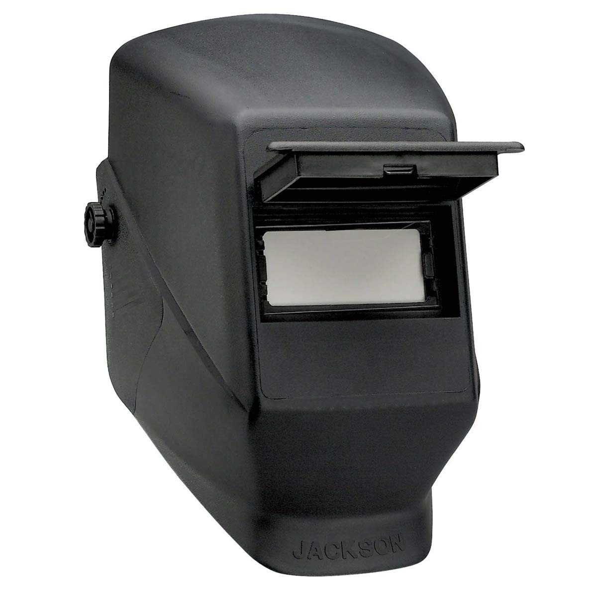 """Kimberly-Clark Professional Jackson Safety HSL 2 Black Thermoplastic Lift Front Welding Helmet With 2"""" X 4 1/4"""" Shade 10 Lens - 4 Each/Case"""
