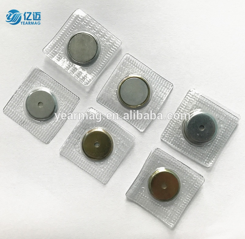 High quality sew in magnets disc waterproof magnetic buttons for clothing