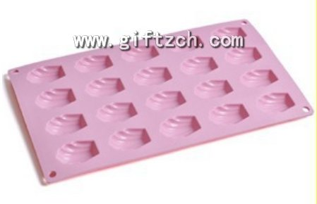 20 in 1 shell Madelyn silicone cup cake mould, silicone muffin mold