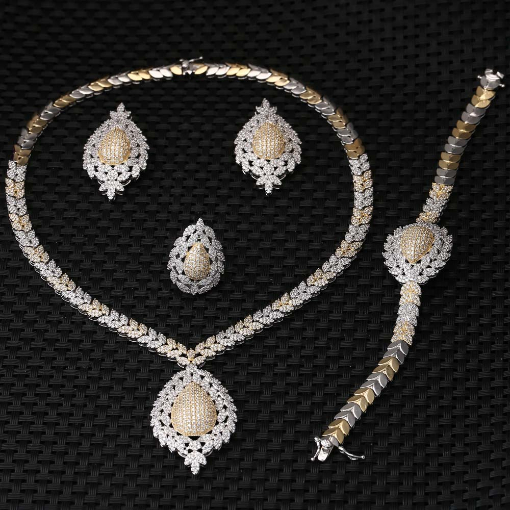 Unique and beautiful REAL wholesale new fashion women jewelry set E-7297