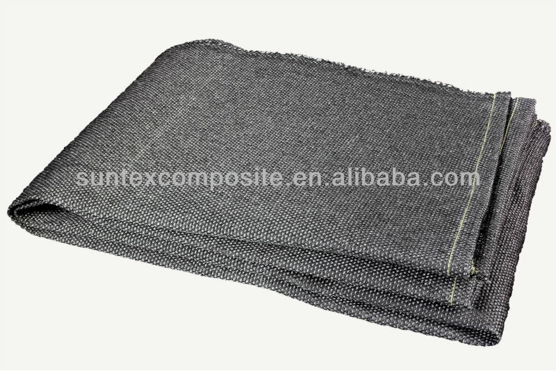 High Temperature Resistance Graphite Coated Fiberglass Cloth For Splash Protection And Heat Protection