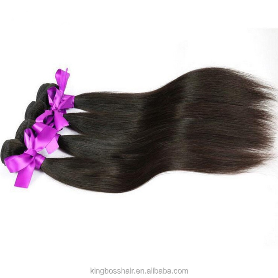 2017 Hot Sale unprocessed raw hair weft/weave/extension Brazilian Virgin Silky Straight Hair