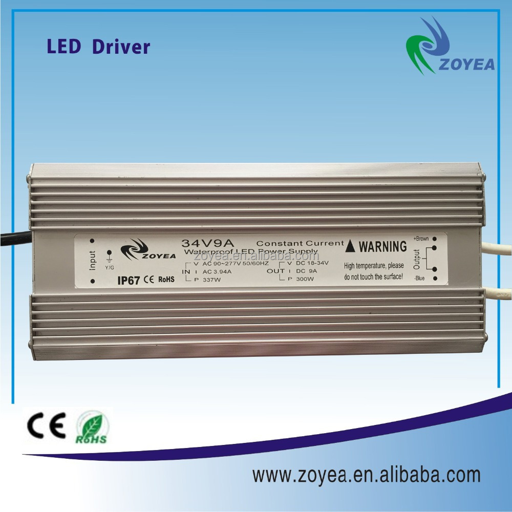 300w 3000ma IP67 constant current led transformer AC/DC converter