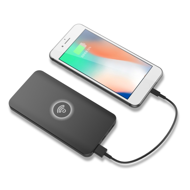 china new innovative product HAMTOD Portable Intelligent Qi Standard Wireless Charger Power Bank QI for huawei mate RS