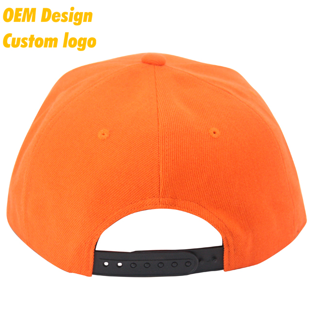 986cd7e73ed06 Custom Stylish Dri Fit Plastic Buckle Big Visor 5 panel batch Orange Hip -  Hop Snapback hat Visor for kids