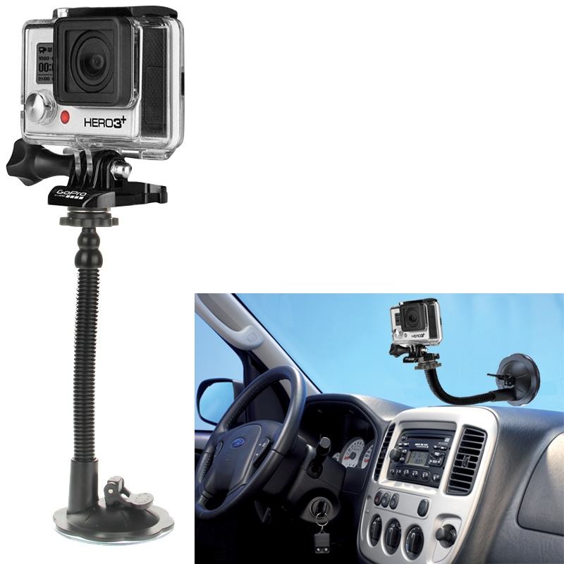 New Car Suction Cup Mount Holder for Go Pro He ro 4 / 3+ / 3 / 2 / 1/ Camera