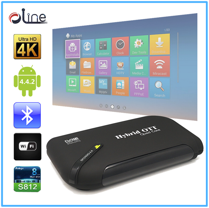 Newest Model Bluetooth 4.0 universal decoder tv dvb t2 android tv box