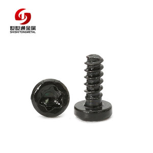 M1.2*1.8 Carbon Steel Pan Head Torx Eco-friendly Black Zinc Plated Self Tapping Household Appliances Small Screws