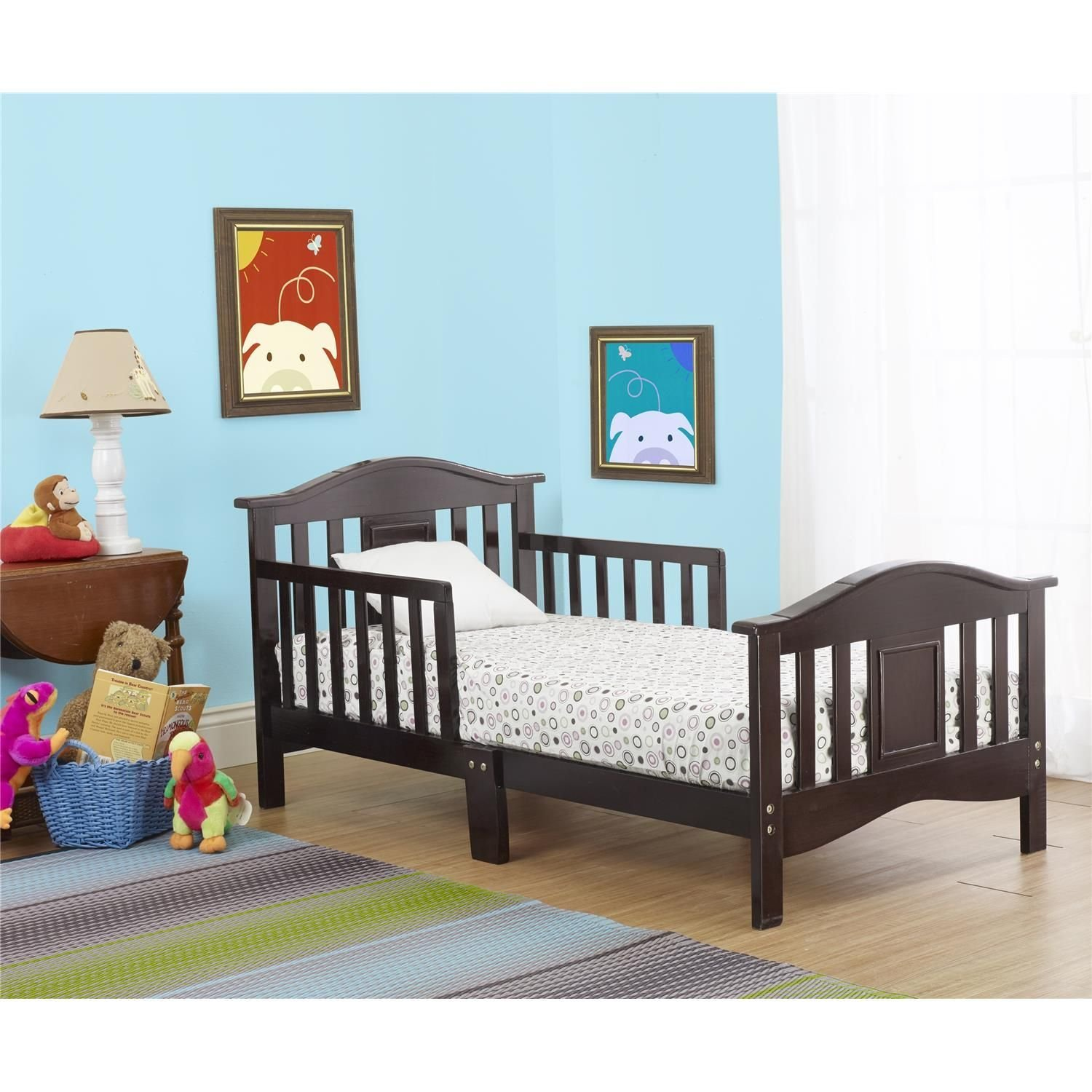 The Orbelle Contemporary Toddler Bed Espresso