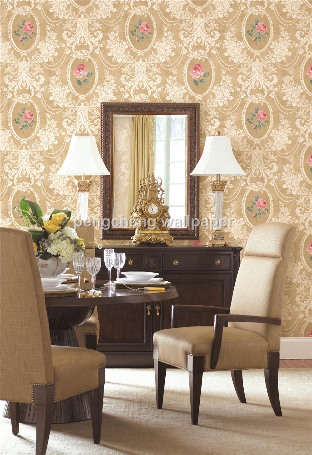 Mooie Bloem Italiaans Design Behang Wandbekleding Behang Slaapkamer ...