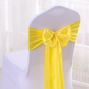 new design 100 polyester satin 8 inch satin sashes chair sash styles for wedding