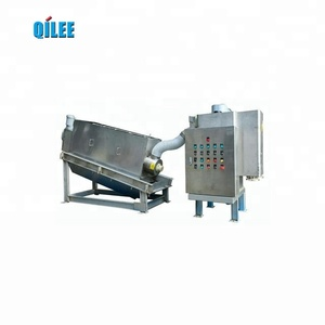 hot selling products cow dung screw press sludge dewatering machine for sewage treatment