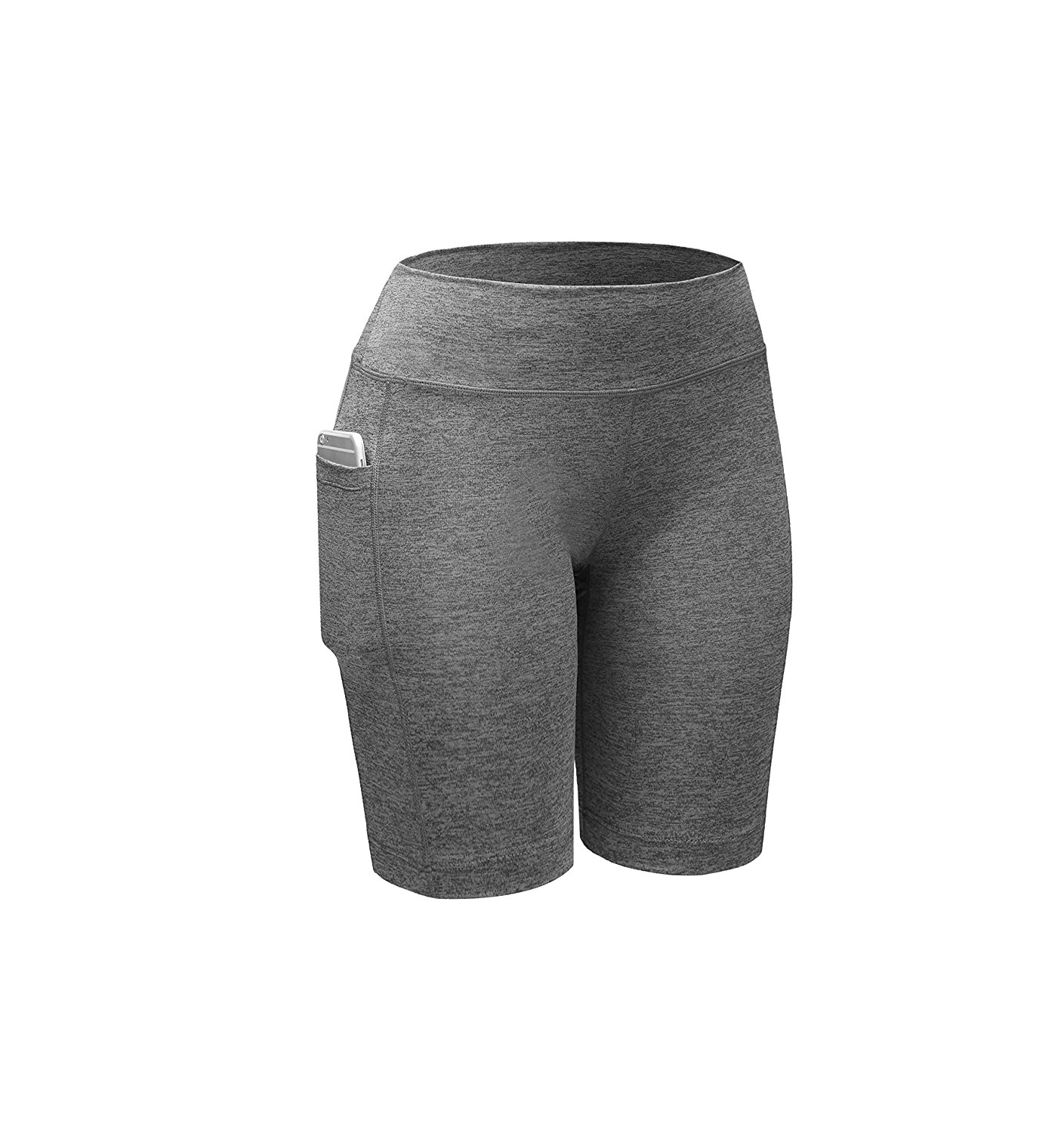 Women's Athletic Compression Shorts with Side Pocket for Active Wear, Casual Wear, Street Wear, Lounge Wear