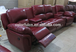 VIP Home Recline Chair LS608 Leather Living Recliner Sofa With 2 Cup Holder