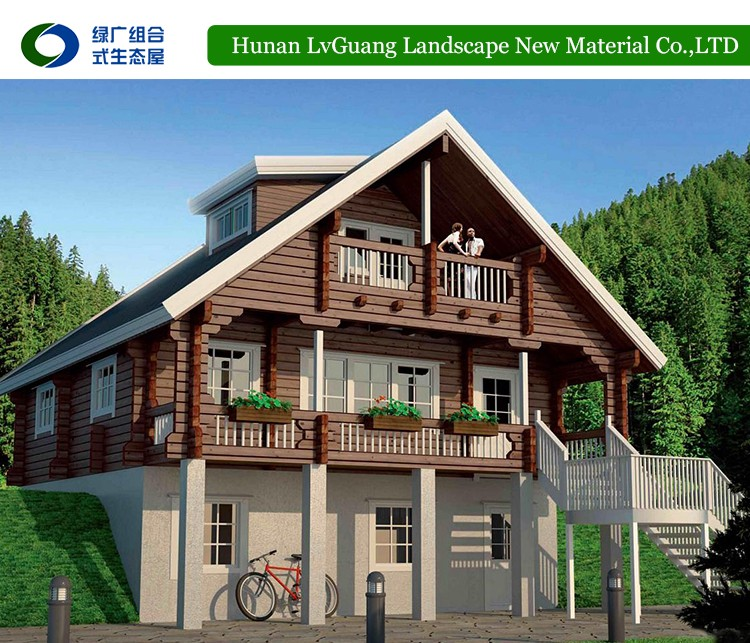 Prefabricated wooden bungalow house prefab log ready made Ready made homes prices