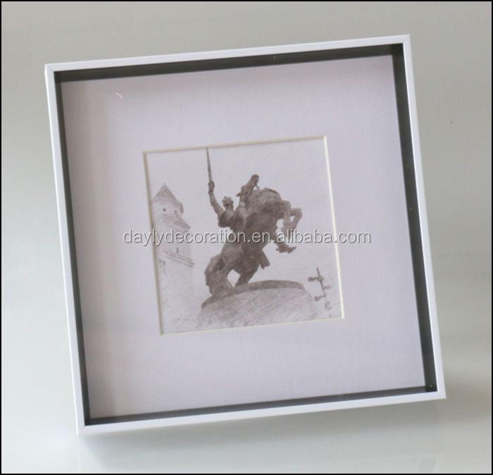 Lightweight Shadow Box Frame Ideas 23x23 Square Wooden Finish Shadow ...