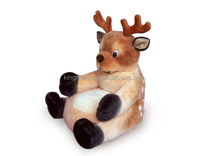 Plush Deer Kids Sofa Chair/plush Animal Shaped Baby Sofa Chair /stuffed  Deer Shaped