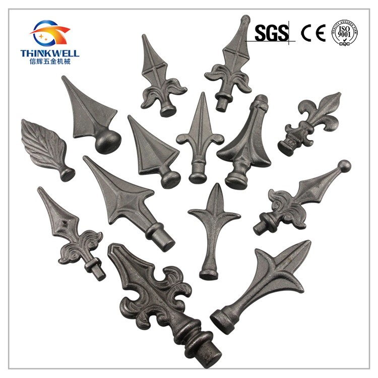 Cast Ornamental Wrought Iron Leaves For Fence Gate Stairs