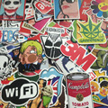 100pcs Hot Fashion Mixed stickers for kids Home decor on laptop sticker decal fridge skateboard cut