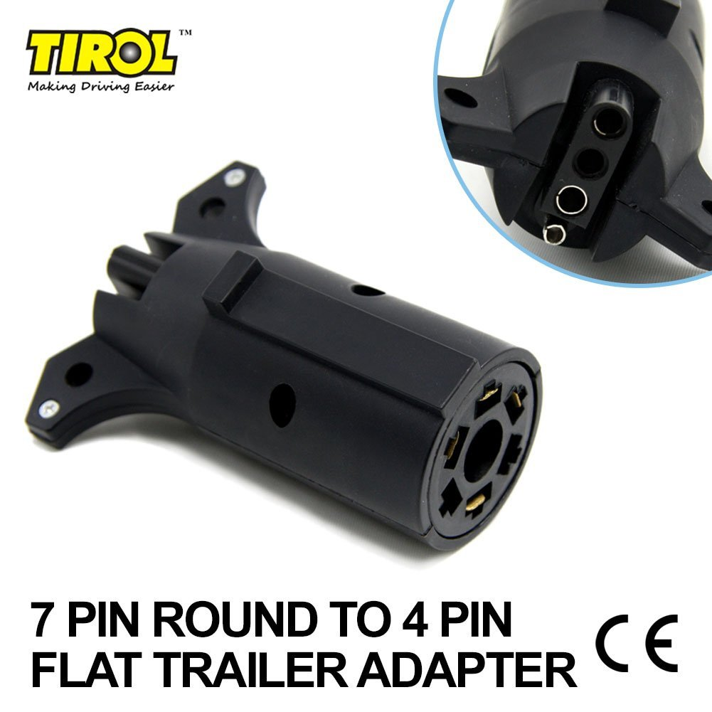 Cheap Trailer Light Adapter Plug Find Wiring Adapters Multi Function 4 Flat 7 Blade Get Quotations Tirol Pin Round To Connector 12v Towbar