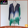 hand painting ombre 100% silk chiffon cardigan