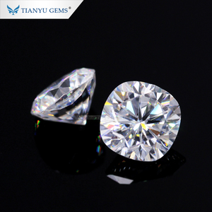 Wuzhou Tianyu gems wholesale uk indian loose stone moissanite 7mm clarity vvs cushion moissanite
