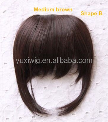 2020 Clip on Hairpiece Fringe Hair Bangs, Real 100 Human Hair Bangs