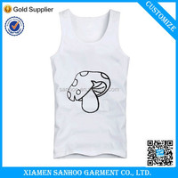 Wholesale Custom Club Mens White Tank Top In Bulk Manufacturer