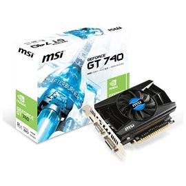 MSI Video Card N740-2GD3 GT740 2GB DDR3 128Bit PCI-Express 3.0 Dual-link DVI-D/HDMI/D-Sub Retail (N740-2GD3)