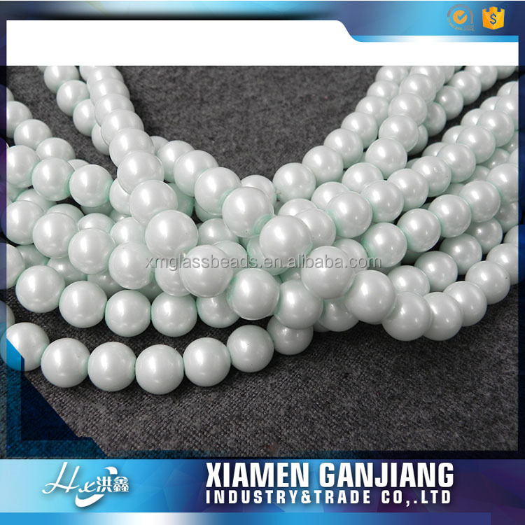 High quality 8mm loose imitation pearl glass beads made in China for garment