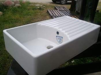 ceramic kitchen sink with drainer ceramic belfast sink with drainer buy belfast sink 8090