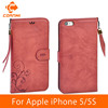 OEM phone case For iPhone 5 5S PU Leather wallet case with card Flip cover