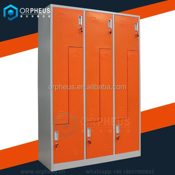 Orpheus Industrial Beanie Elite Storage Lockers Z L Shape Fitness Dash 6  Door Almirah Orange Color Metal