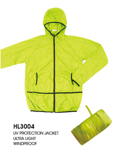 polyester/nylon waterproof foldable windbreaker rain jacket