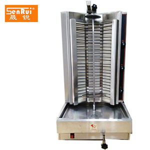 2017 new design stainless steel commercial doner kebab grill chicken grilling equipment shawarma machine