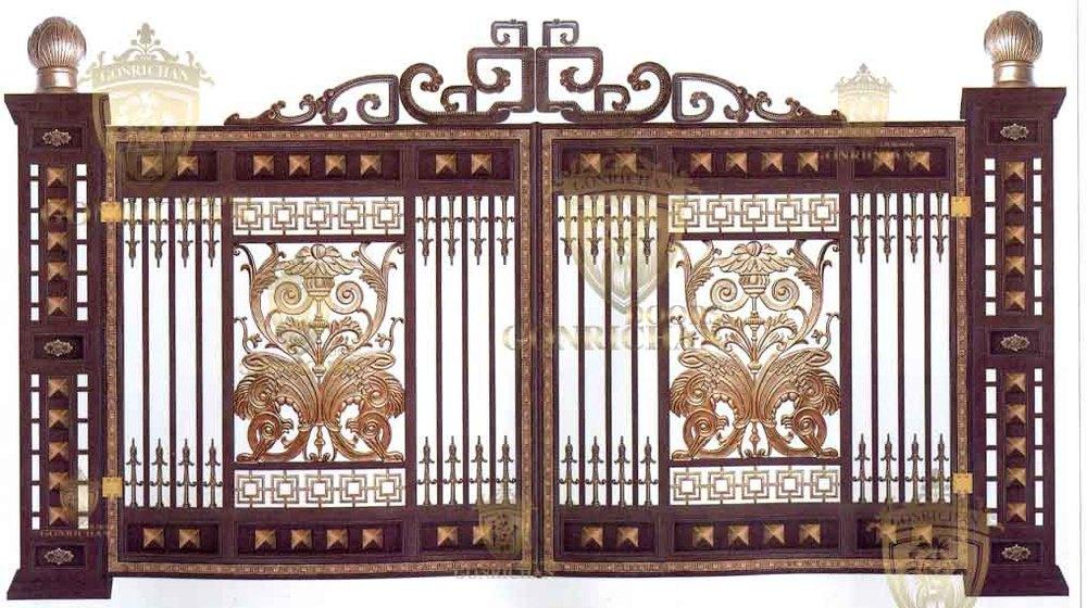 Front Designs Wrought Iron Villa Gate Designs Exterior