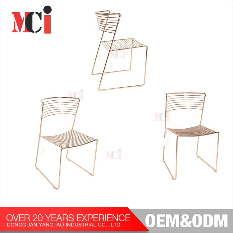 Moderne Möbel Freizeit Stühle Industrie Metall Gold Verdrahtete ...