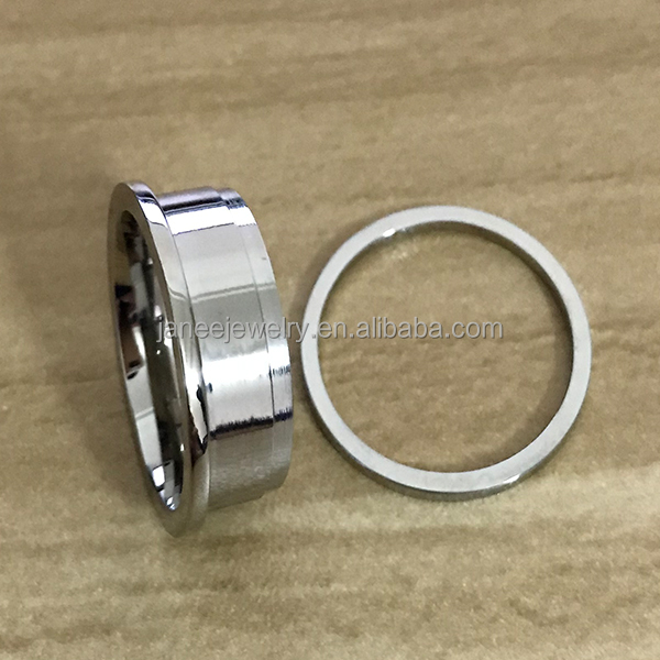 Handmade Jewelry Ring Making 316L Stainless Steel Ring Blanks Ring for Inlay