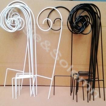 Powder Coating Decorative Metal Garden Hanging Shepherd HookS