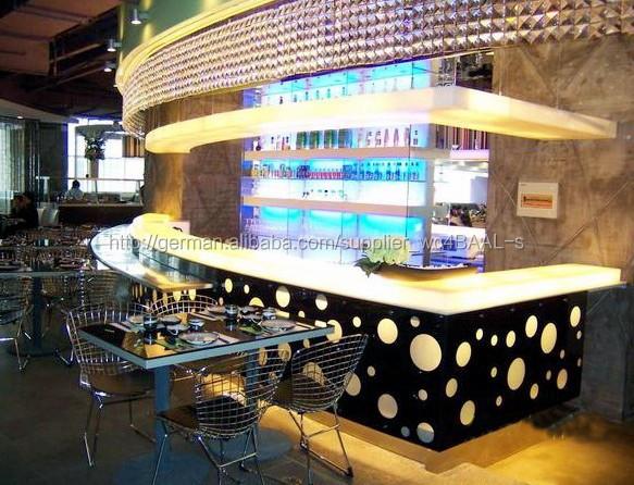 Moderne und elegante design bar m bel f hrte luxus for Muebles para restaurantes modernos