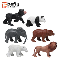 Table decoration gift plastic elephant forest animal toy set