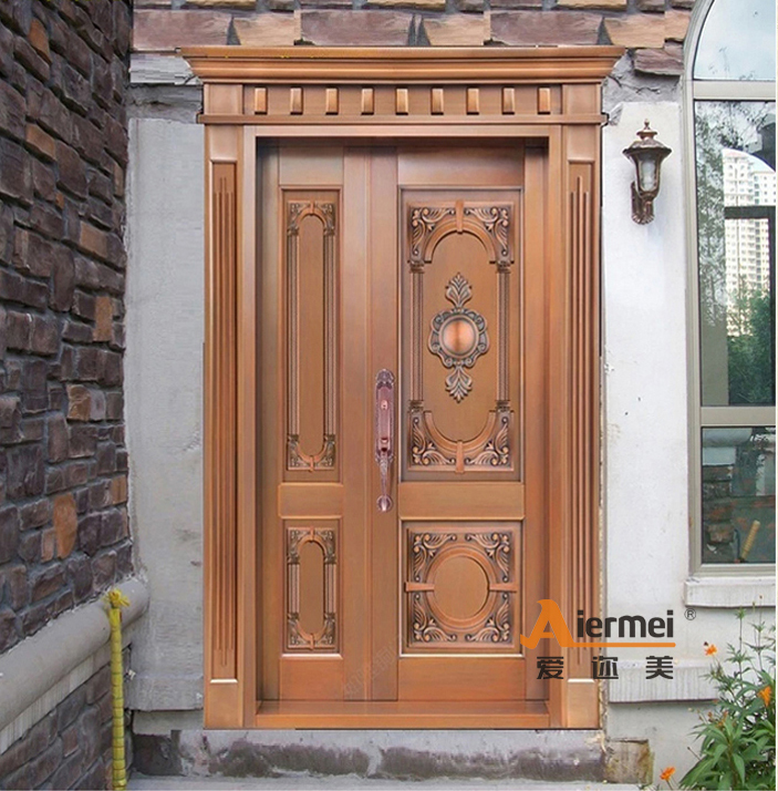 main entrance door design used exterior doors for sale unequal double real copper door buy. Black Bedroom Furniture Sets. Home Design Ideas