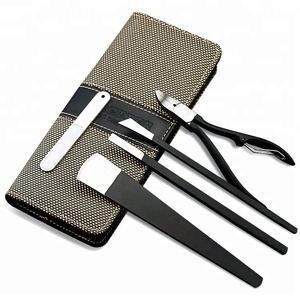 ICEQUEEN Factory Directly Wholesale High Quality Foot Care Black Foot Pedicure Knife 5pcs Manicure Set