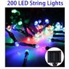 Christmas 20m 1600-2400LM Solar Panel 200 LED Festival Fairy String Lights for Decoration