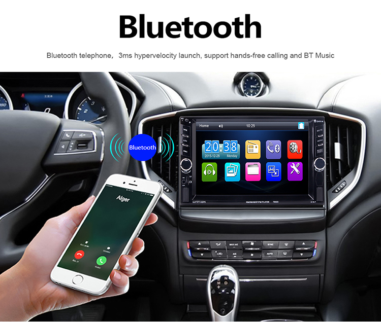 Car 2 DIN 7 Pollice Audio Bluetooth In Dash Touch Screen monitor dell'automobile Car Audio Stereo doppio din Lettore MP3 MP5 USB supporto