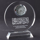 Crystal Circle Plaque with Clock for Islamic gift MH-J0425