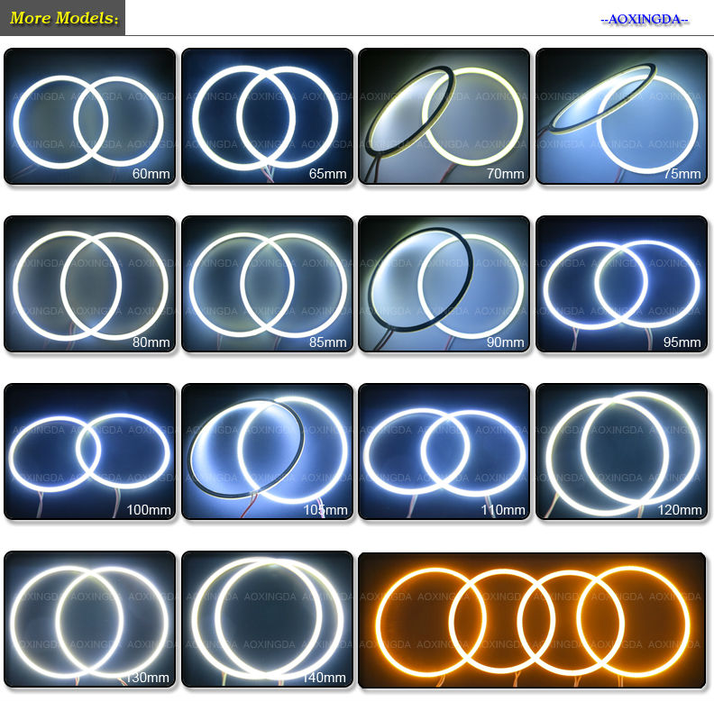 70mm Cob Led Angel Eyes Headlight Halo Rings Light Horn Light Lamp Buy Led Angel Eye Headlight